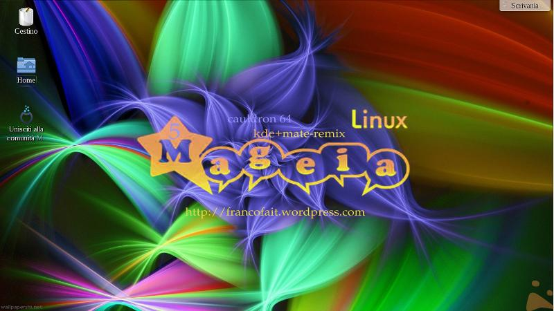 Mageia 5   caukdron64 in remix kde-mate